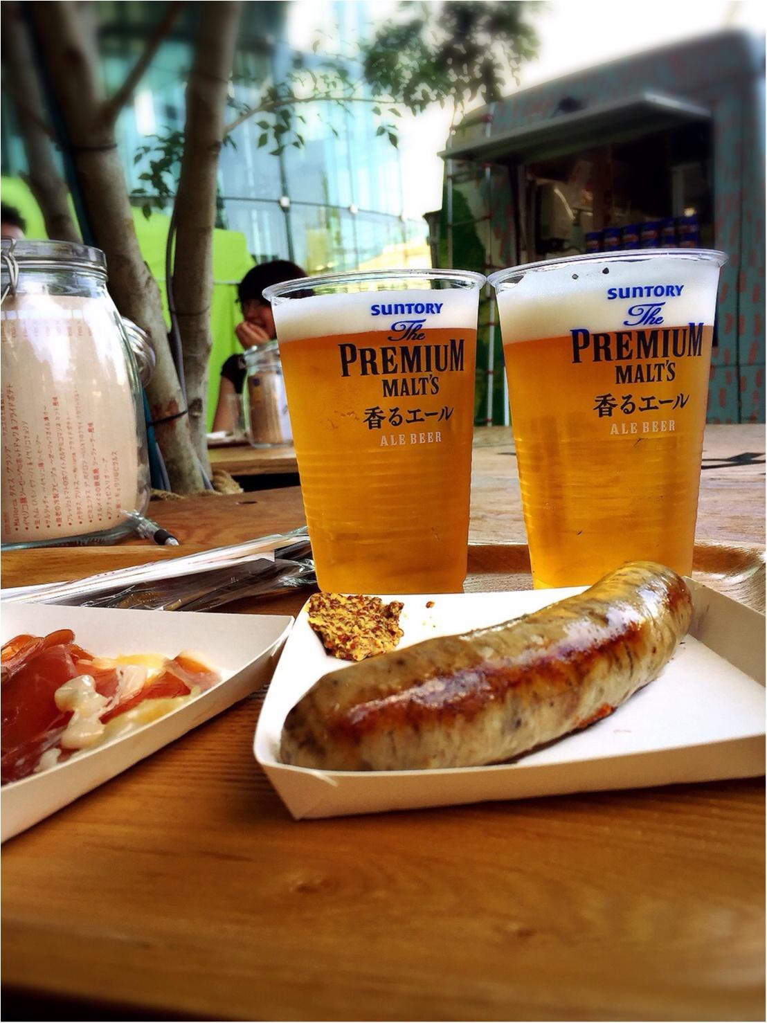 海外のような雰囲気♡芝生でくつろぎながらビールのもー\(^o^)/【二子玉川8月まで!】_8