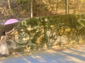 ジブリ好きにはたまらない 大分県の苔アート