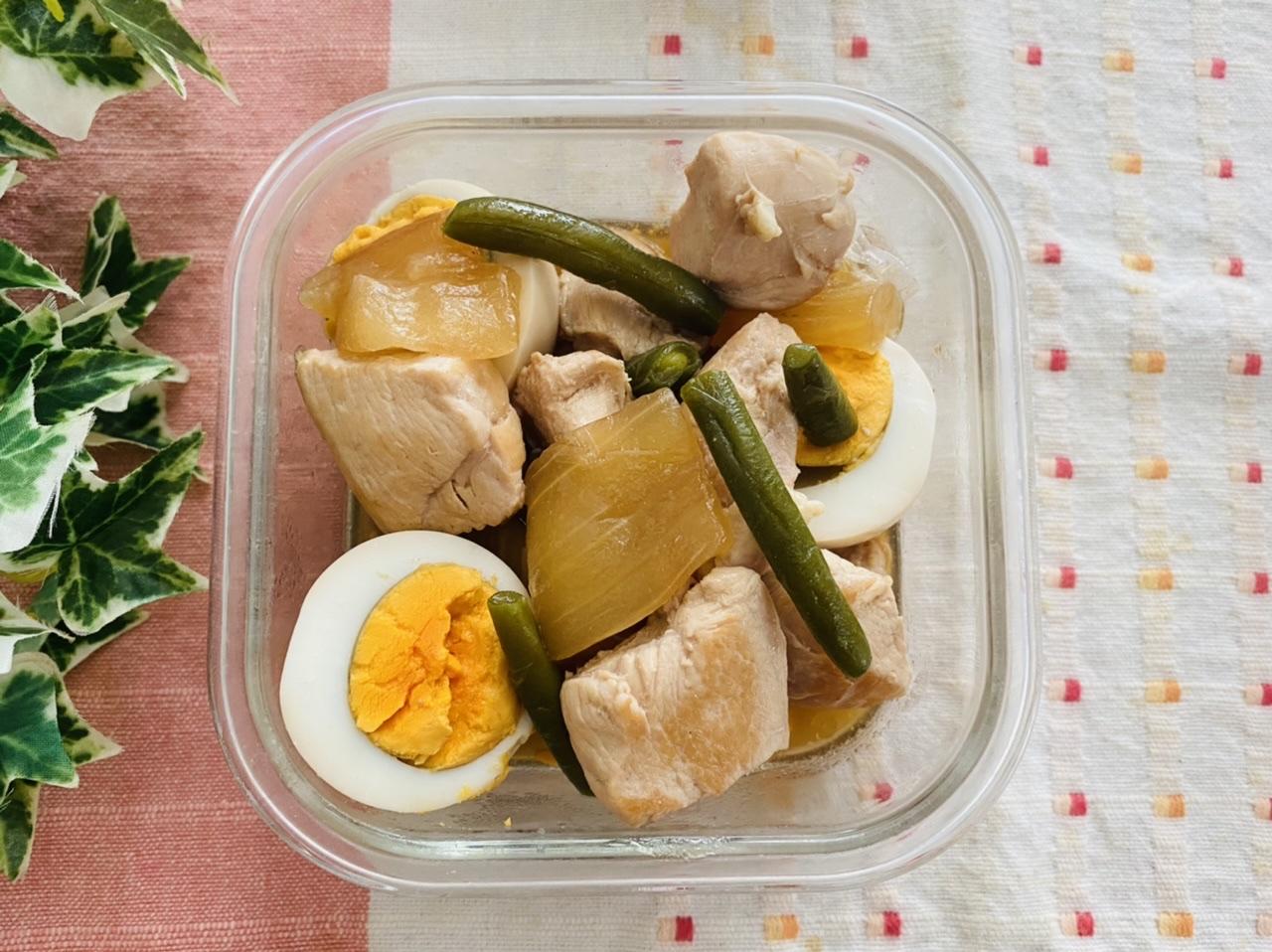 ゆうがおと鶏肉の煮物