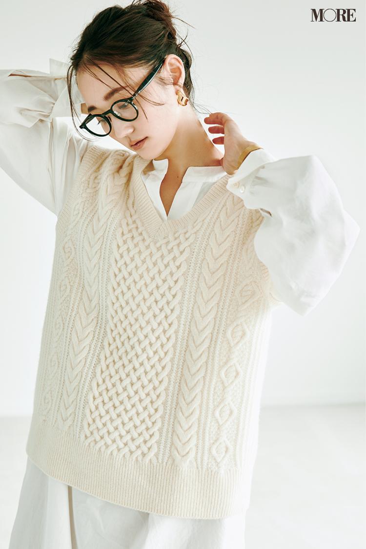 """まだ真冬のニットを着るには早いけど寒い......なんて時には""""長袖ニット未満""""のアイテムを投入!_3"""