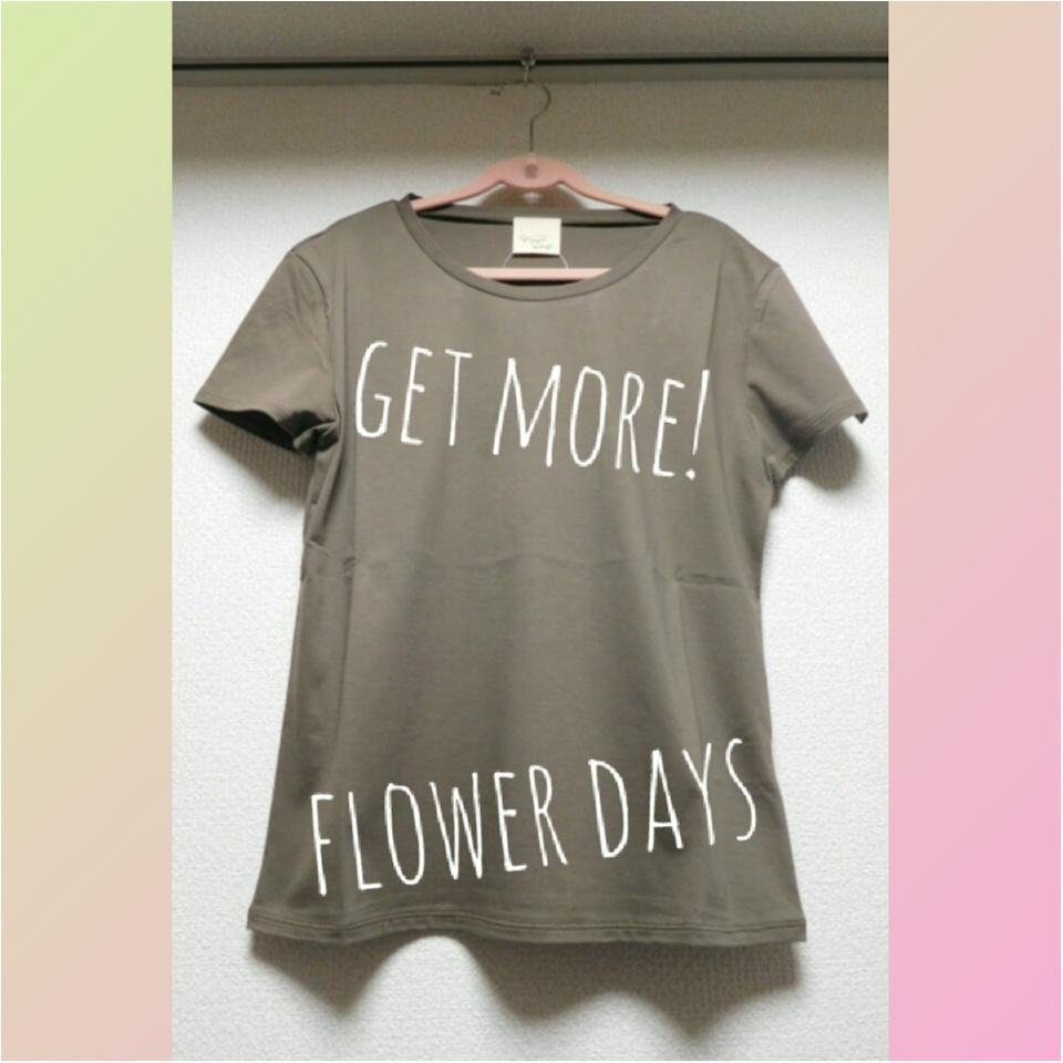 佐藤ありさちゃんデザイン♡flower daysのカーキTシャツが本当に使える!!_1
