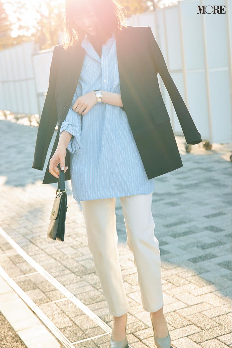 きれい色パンツみたいな淡色デニムなら履きやすい