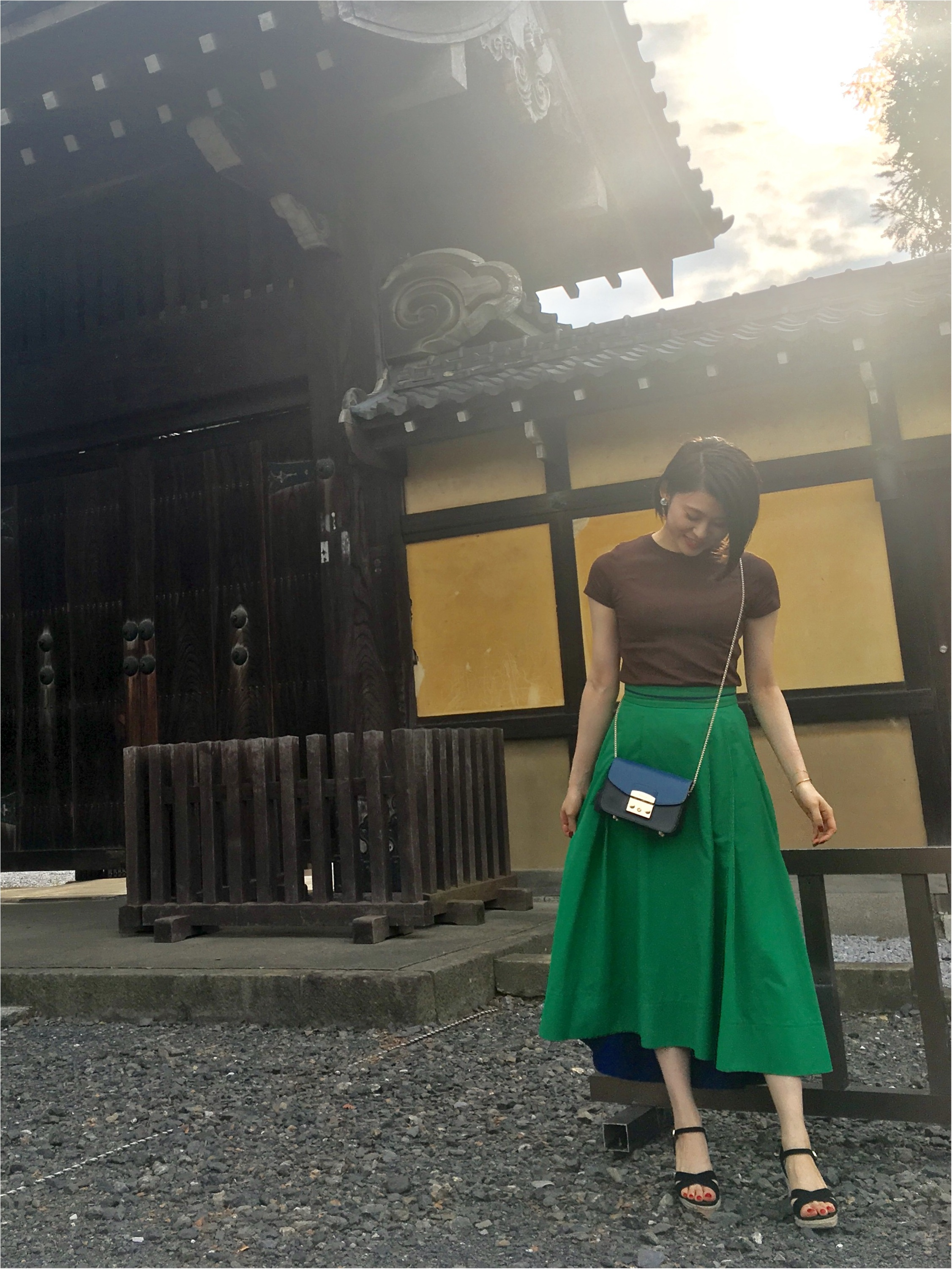 Coordinate...女性らしいふんわりスカートはTシャツで程よくカジュアルに☆_1