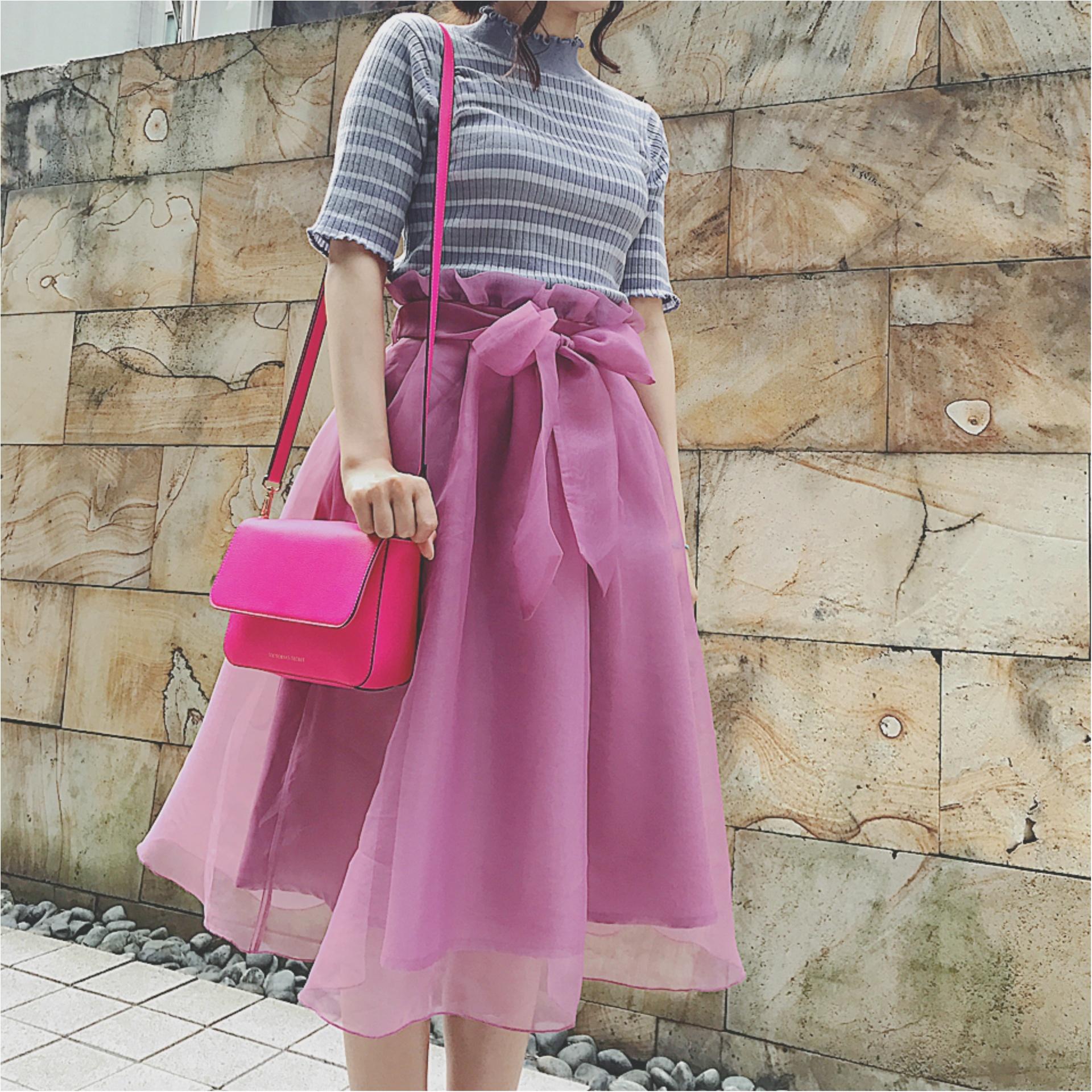 ★やっぱりビビットカラーが好き♡ビビットピンクのショルダーバッグが意外と使えるんです★_3