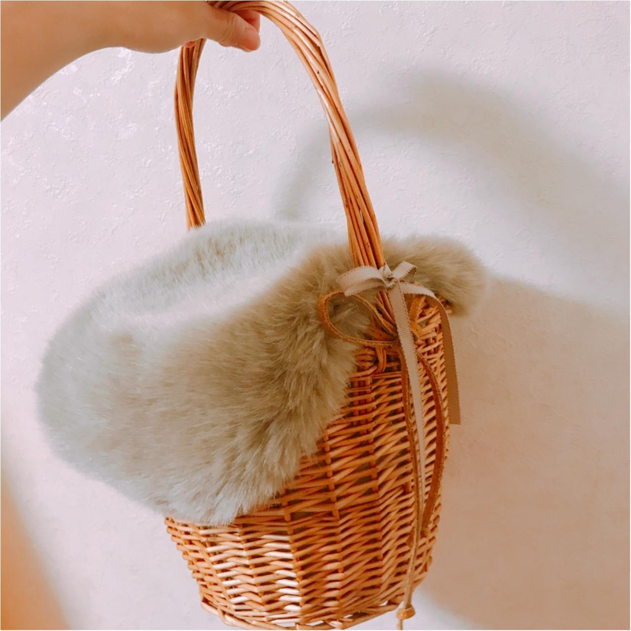 おしゃれさんは冬でも持ってる!?【かごバッグ】を冬仕様にリメイク♡_3