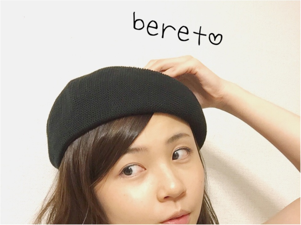 夏だってベレー帽をかぶりたい!これひとつで辛口コーデが可愛くなる♡_3