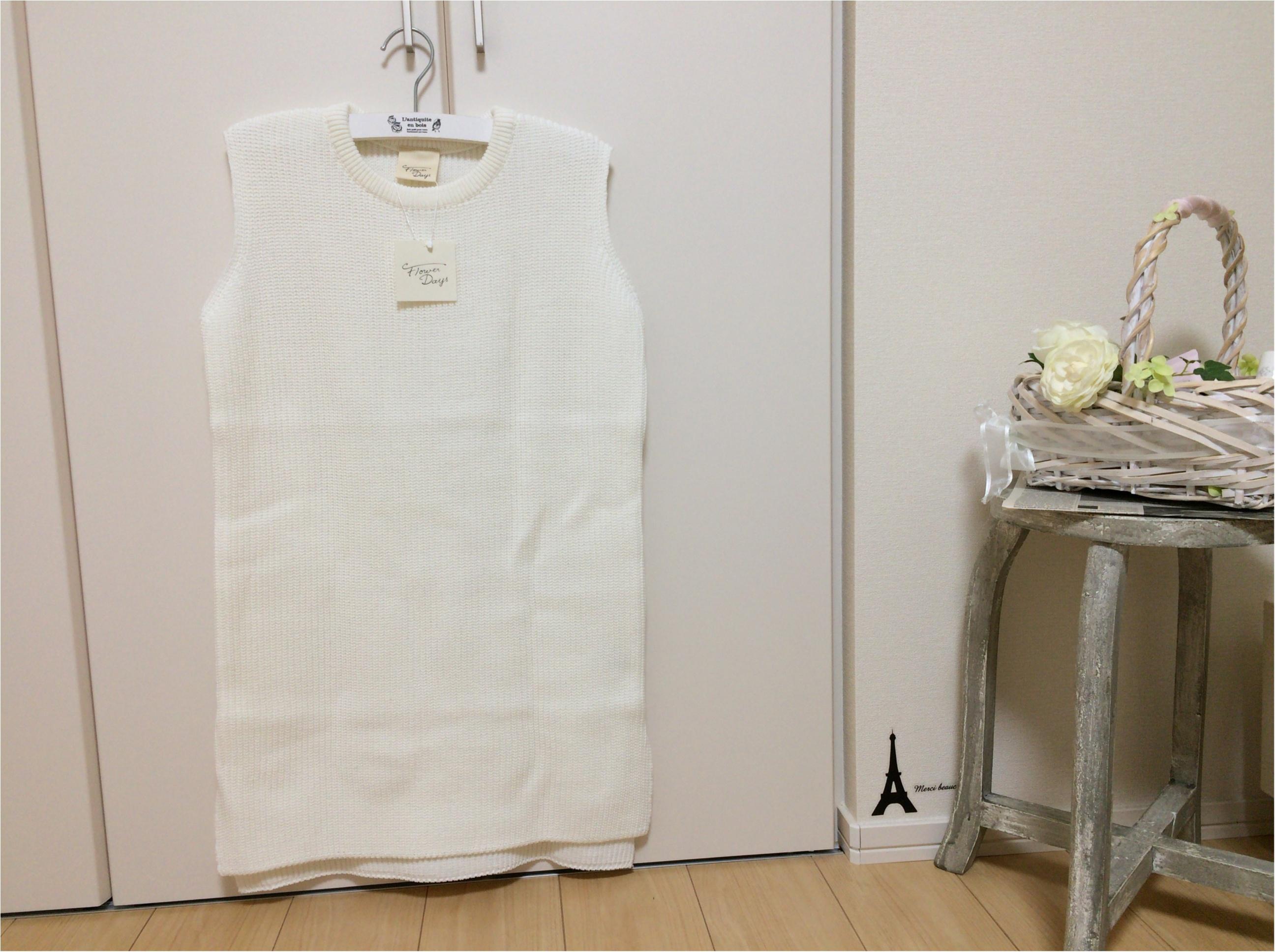佐藤ありさコラボ服『FlowerDays』流行《ストライプ》リネン風スカートは着回しも着心地も楽チン!_9