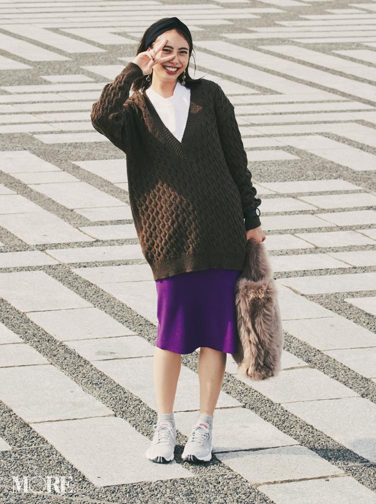 注目のきれい色【パープル】コーデ見本 | ファッション(2018年秋冬編)_1_4