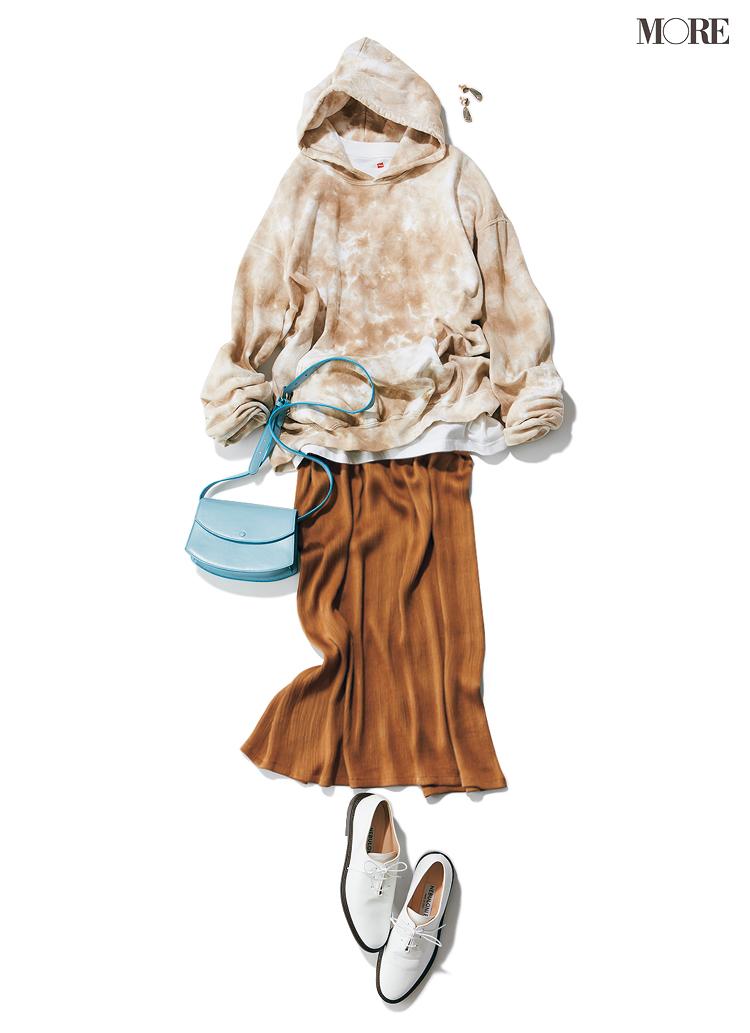 おうちでゆったりも、ちょっとご近所へも、フーディが最強にあざと可愛い説♡ スカートと合わせてみて_5