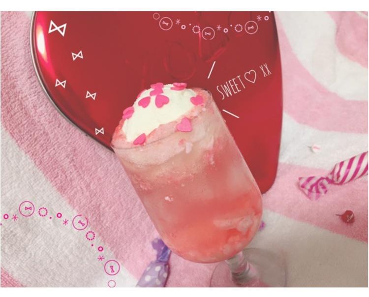 【FOOD】\ 愛ちあん Cafe♥︎ / 恋に効く♡?ハートがたっぷり♡とびきりcuteなPink Heart soda♡_7
