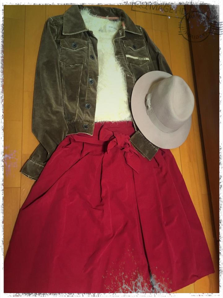 【ファッション】赤deおでかけ秋コーデ_1