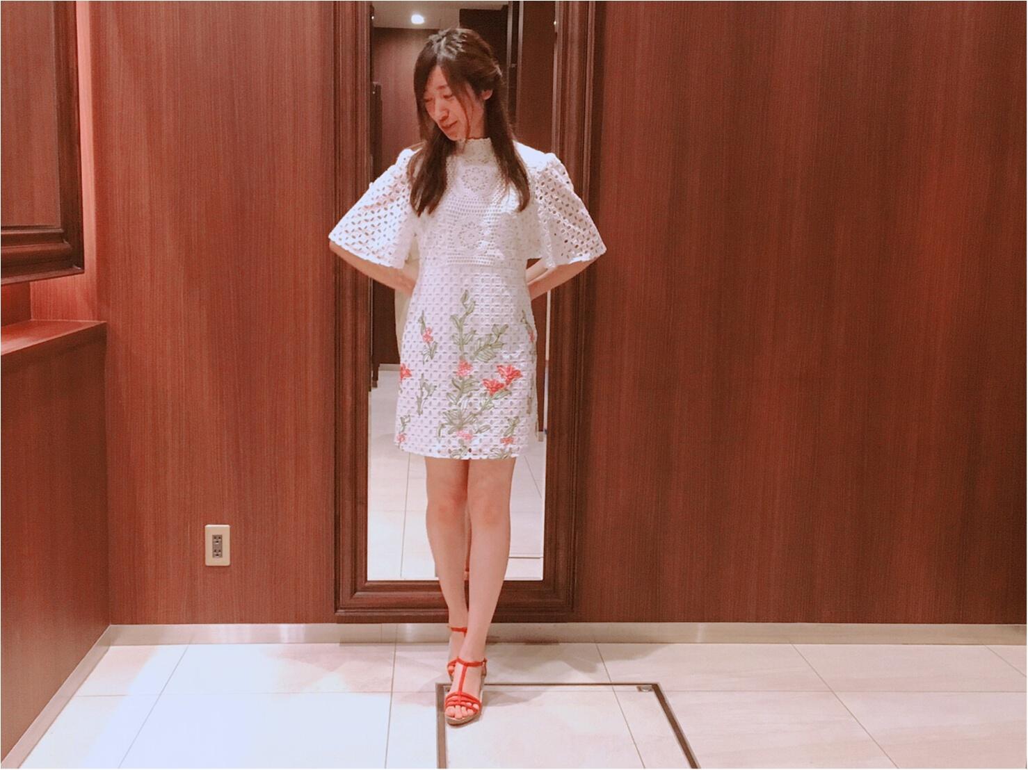 【ZARA】刺繍入りレースワンピース(¥7,990)がクラシカルで可愛い♡_3