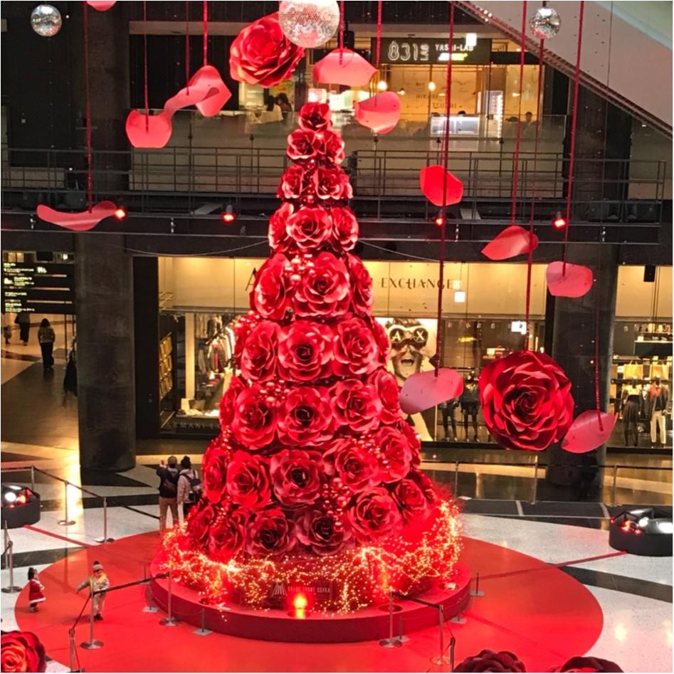 ★これこそLADY♡なクリスマスツリー!梅田に真っ赤なツリーが登場です★_1