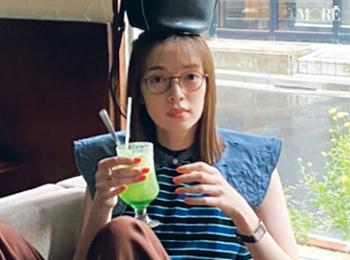 佐藤栞里レトロ喫茶でメロンソーダを満喫中、ですが?【モデルのオフショット】