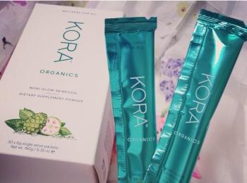 <おうち時間>ミランダ・カーも愛飲*簡単ビューティ補給♡KORA Organicsのノニグロー スキンフードでインナービューティケア!
