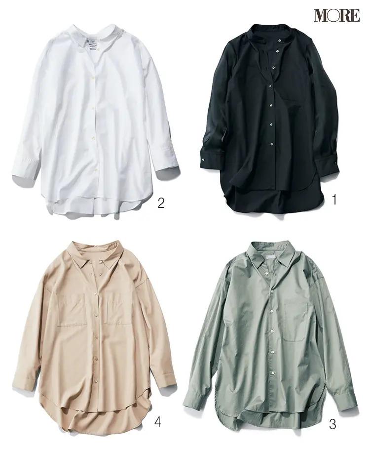 ストレートタイプに似合うナノ・ユニバース、スローブイエナ、MP STORE、Stola.のシャツ