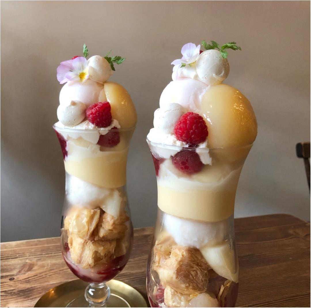 この季節がやってきた♡甘くてみずみずしい、桃を1.5個使った贅沢な《 桃パフェ 》が美味しすぎる♡♡_3