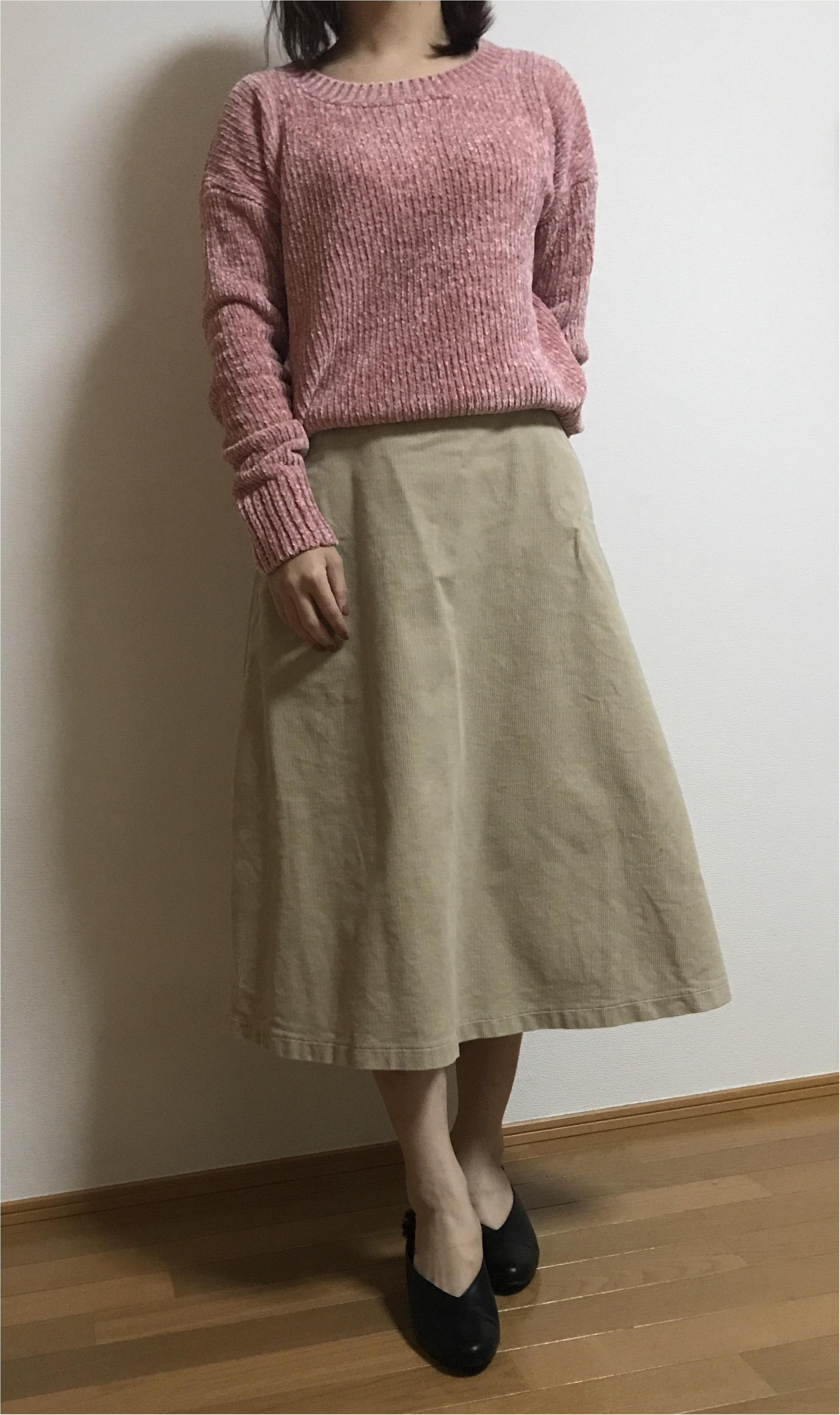 【ユニクロ】買ってよかった!まだまだ使える冬アイテム♡♡《コーデュロイスカート×ニット》の最強コーデを組んでみました❤︎_4