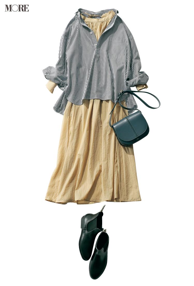 20代後半、自分にもう一度問いかける。パンツ派巴瑞季・スカート派りな「秋ボトムに何合わせてく?」着回し24日目_2