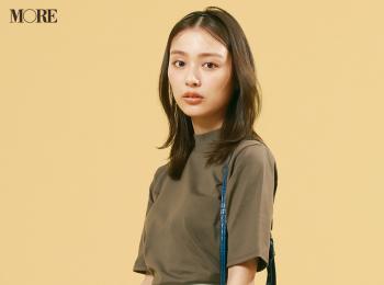 【今日のコーデ】<内田理央>注目の五分袖Tシャツで暑くてもきれいで楽な通勤スカートコーデ