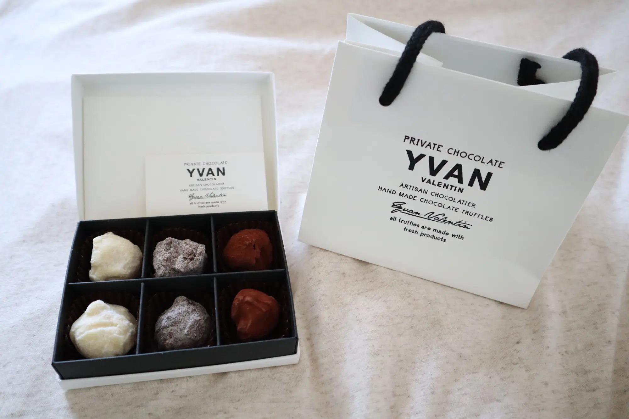 2021バレンタインで購入したイヴァンヴァレンティンの6個入りチョコ