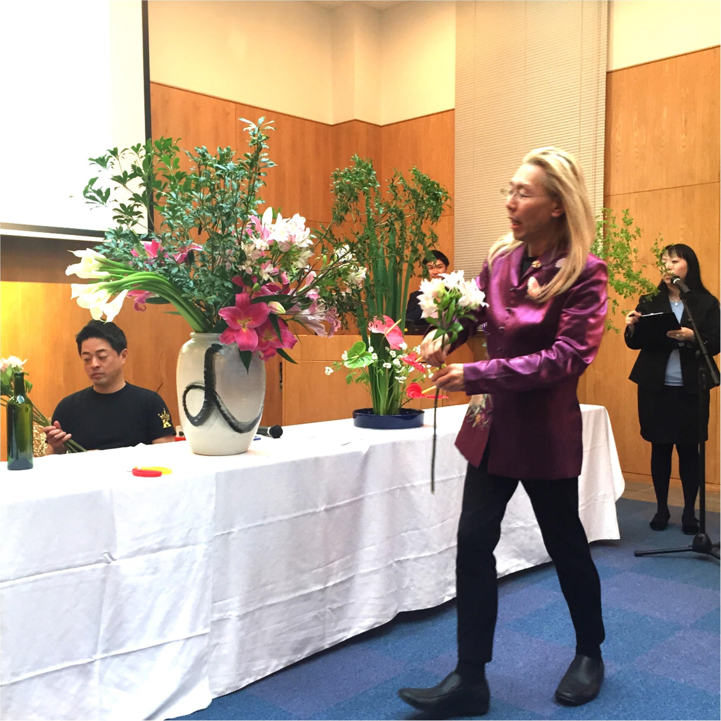 日本文化を世界に発信♪假屋崎省吾さんの華道イベント♡_1