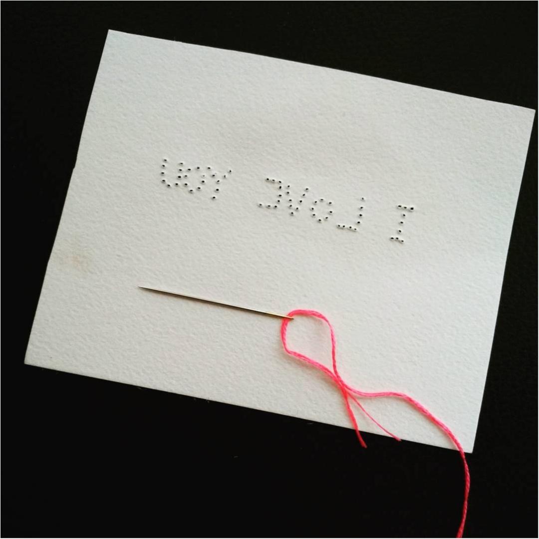 思いが伝わる?紙刺繍に愛を込めて…♡♡♡♡_2