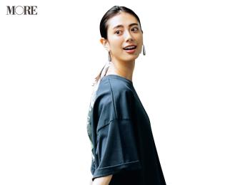 【今日のコーデ】<土屋巴瑞季>ほっこりじゃないリュックコーデはきれい色スカートで