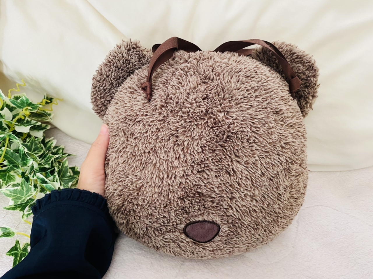 【GU新作】クマさん可愛すぎ♡クッションにもなる《4WAYブランケット》は今冬絶対買い!_5