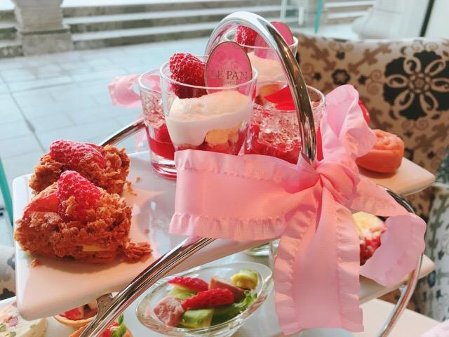 【ラ・スイート神戸ハーバーランド】ストロベリーアフタヌーンティーの苺と薔薇のコラボが可愛すぎる♡♡_7