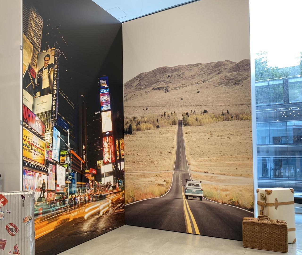 ユニクロ銀座店12階ジーンズフロアのフォトスポット
