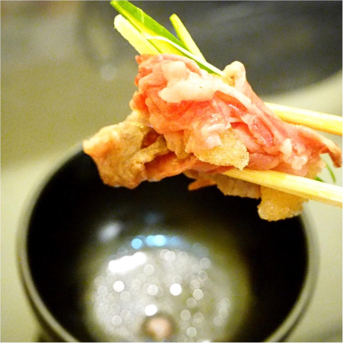 暑い夏こそ食べなきゃ♡塩すき鍋は特製の氷ダレをのせてさっぱりとした味わい_8