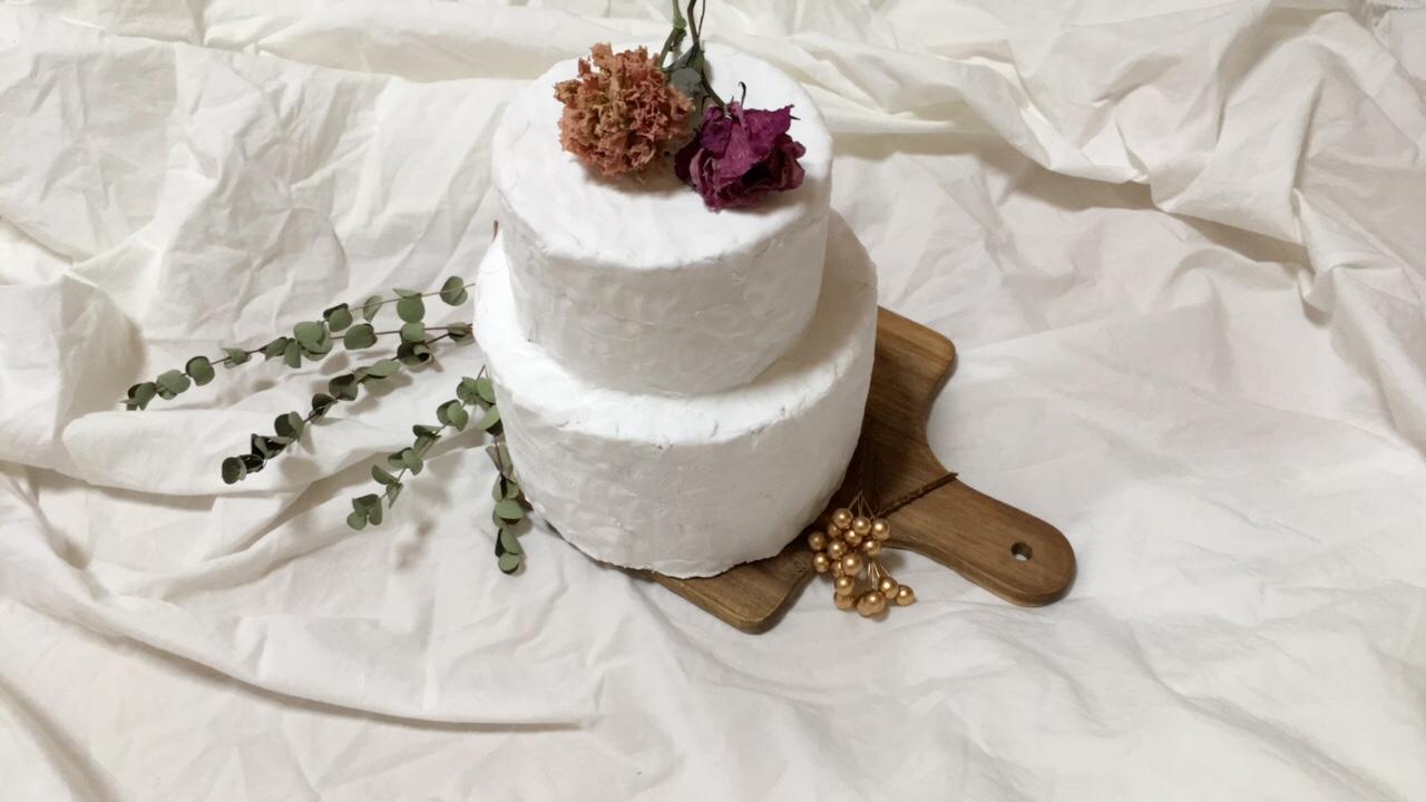 バースデーやウエディングに♡食べられないケーキ【クレイケーキ】を作りました_1