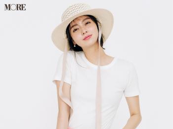 【今日のコーデ】<新川優愛>夏の白Tコーデはピンクのパンツとなら可愛すぎ!