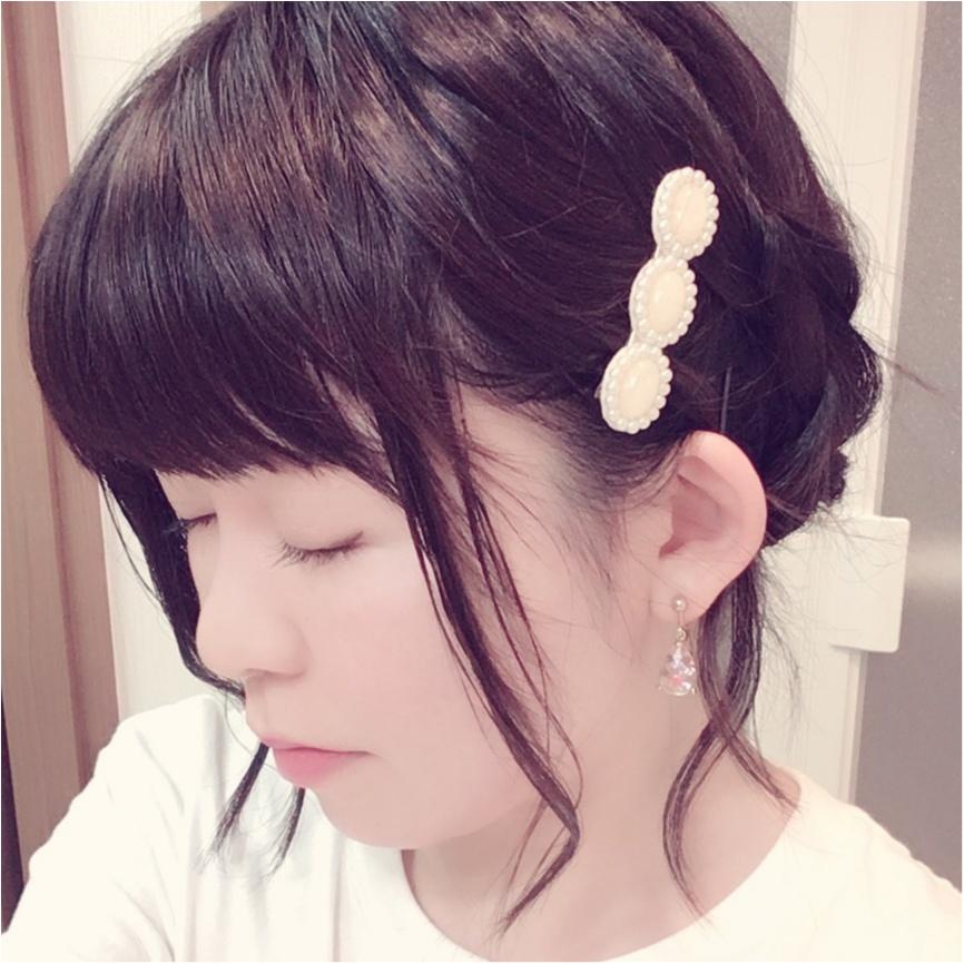 ライブのヘアスタイルは崩れにくい編み込みまとめヘアで(*´ ˘ `*)♡_2
