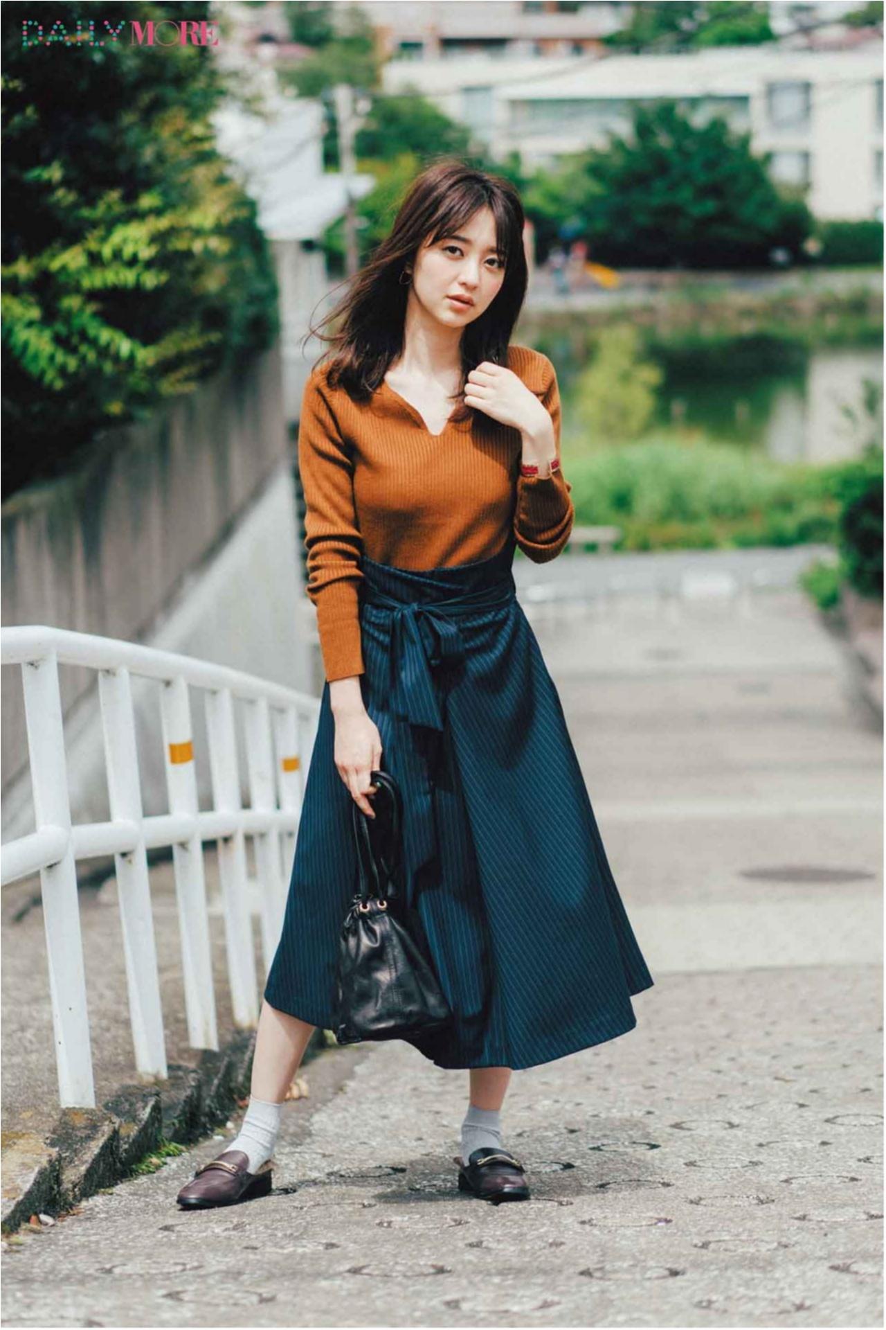 秋コーデを軽やか&華やかに♪ 「フレアスカート」の着こなしまとめ♡_1_11