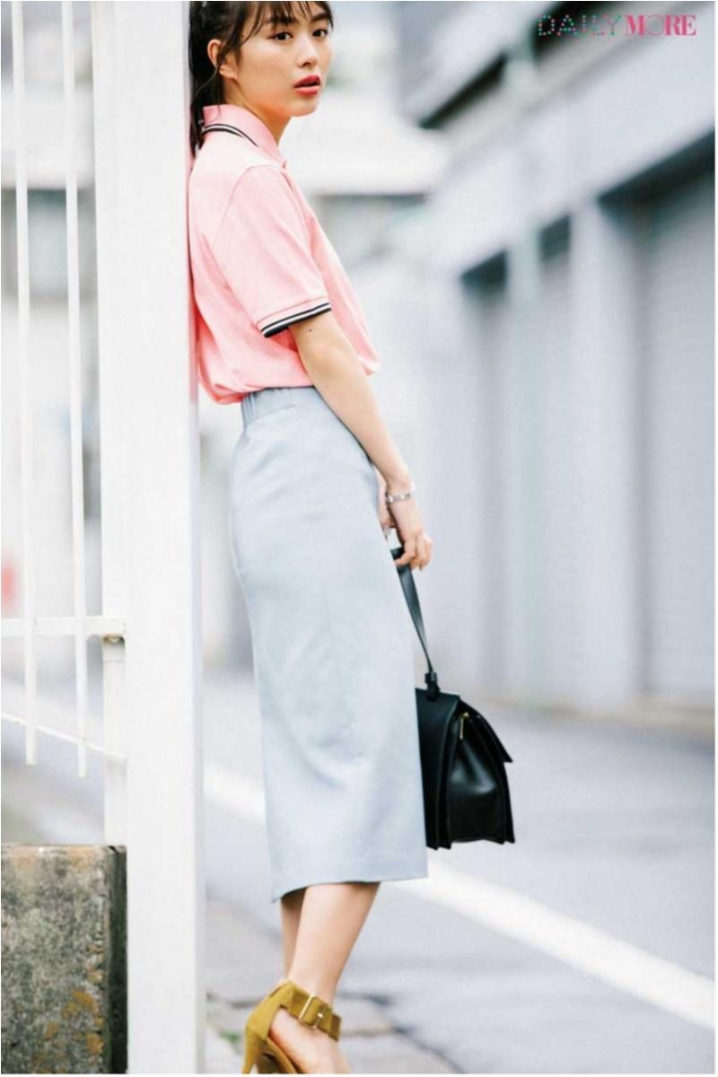 甘い服をほどよく大人にしてくれる「ポロシャツ」コーデまとめ♡_6
