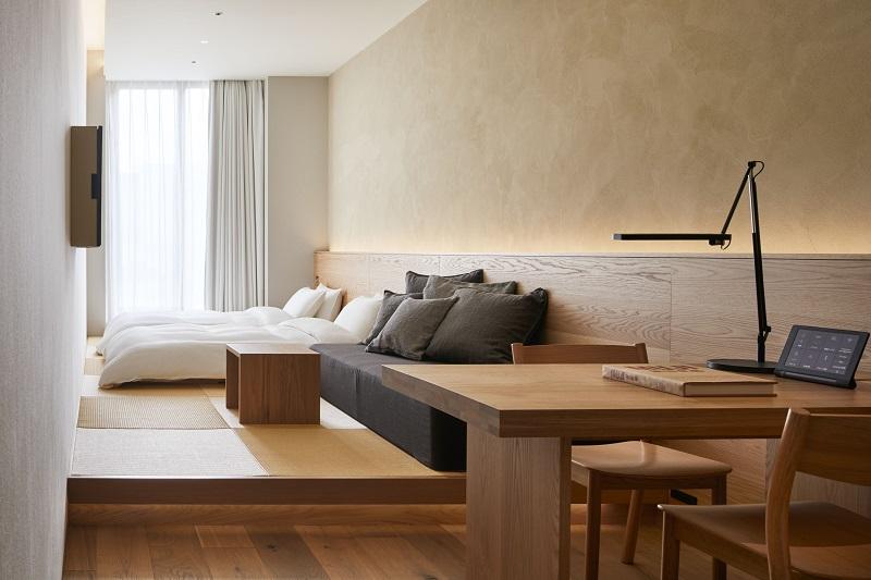 『MUJI HOTEL GINZA』の9タイプの客室、全部見せます♡ 家具からベッド、食器まで。無印良品の名品が使える試せる買える「無印良品 銀座」!_4_6