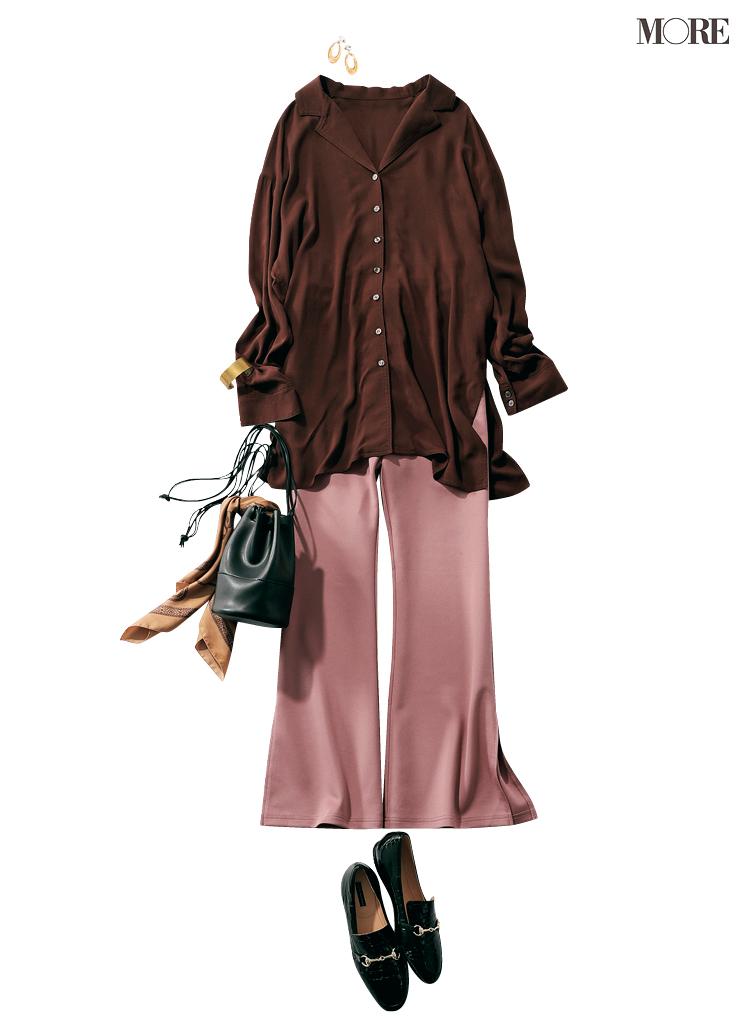 夏に買ったトレンド服、まだ使えます♡ シアーシャツ&くすみパステルパンツの旬な着こなし6選_5