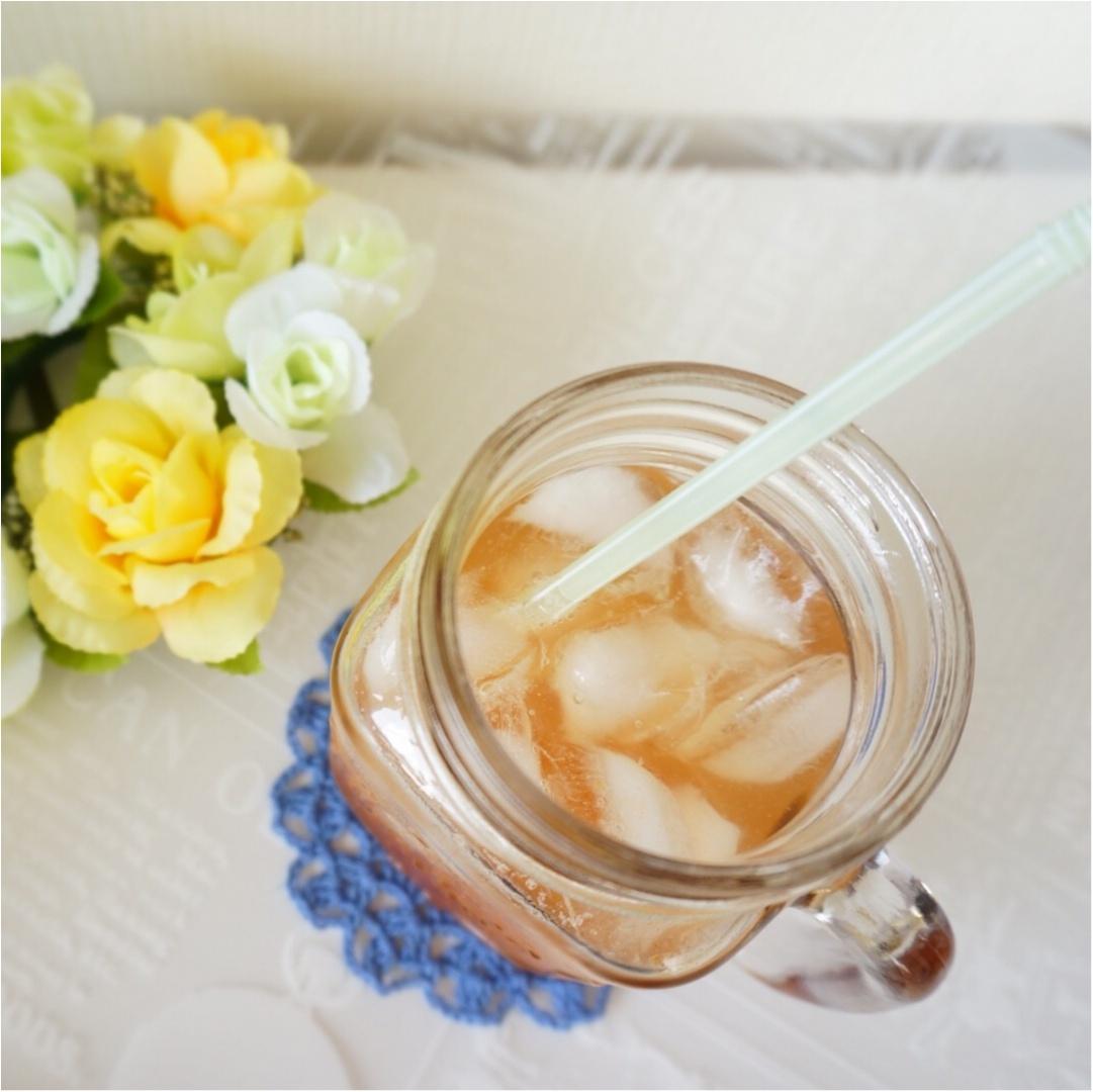 【Q♡cafe】白桃ルイボスティーとALL¥108アイテムのテーブルコーデ_5