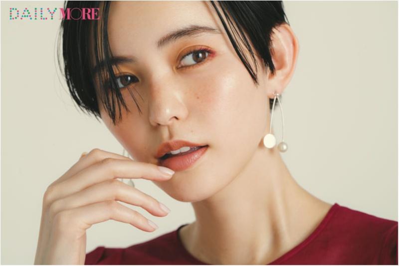 あこがれのモデル・比留川 游さんの「キレイのヒミツ」。メイクは、大人の赤を忍ばせるのが気分。_1