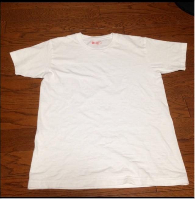 【DIY】人気のHanesTシャツを、自分サイズに♡かつ今年っぽくアレンジ♪( ´θ`)ノ_2