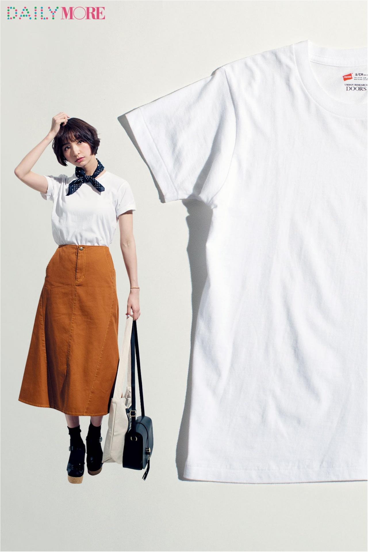 篠田麻里子がこだわる白Tシャツ講座!【ユニクロ&ヘインズのシンプルT編】_1