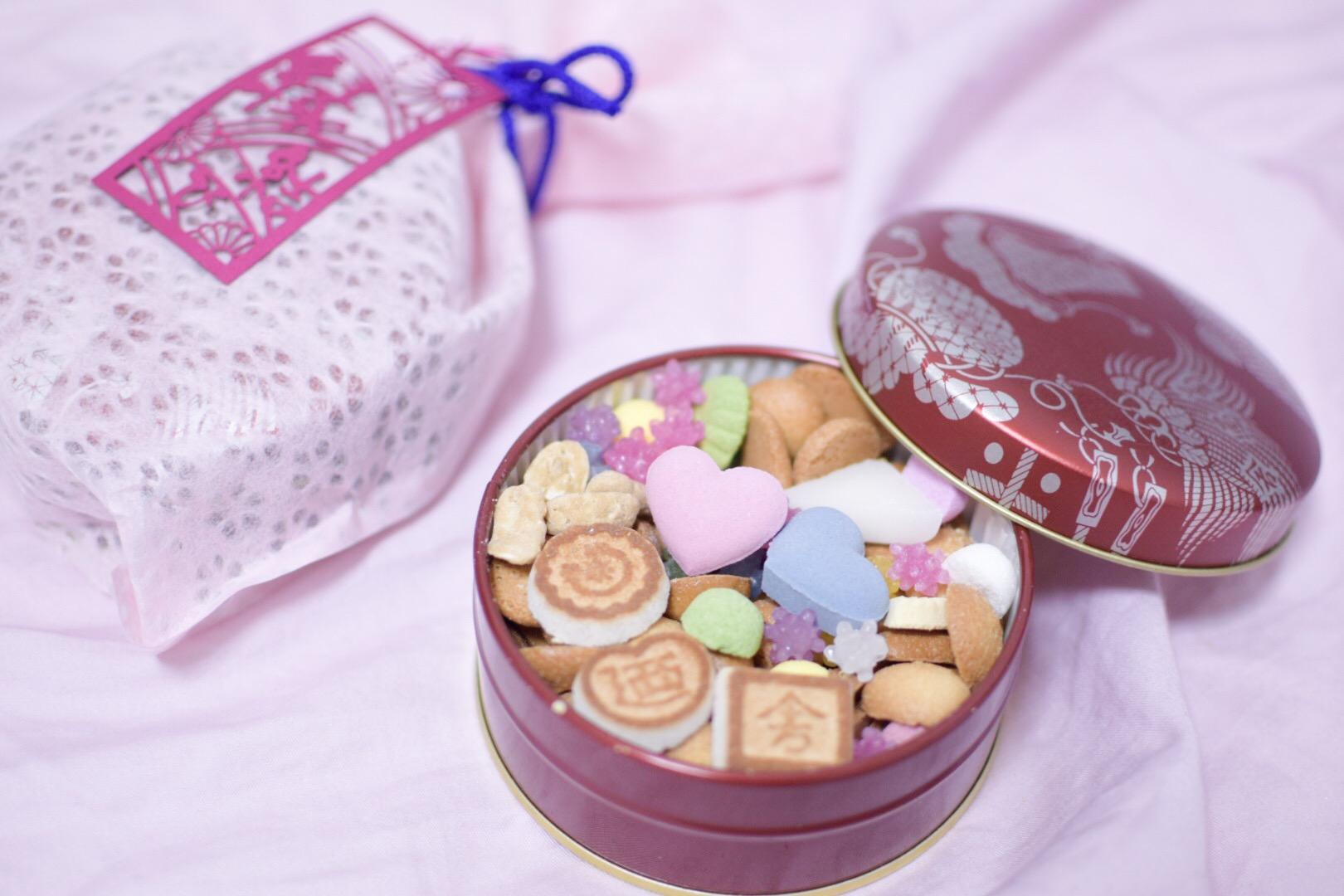 【東京土産】江戸和菓子なのにインスタ映え間違いなし! 銀座 菊廼舎【クッキー缶】_1