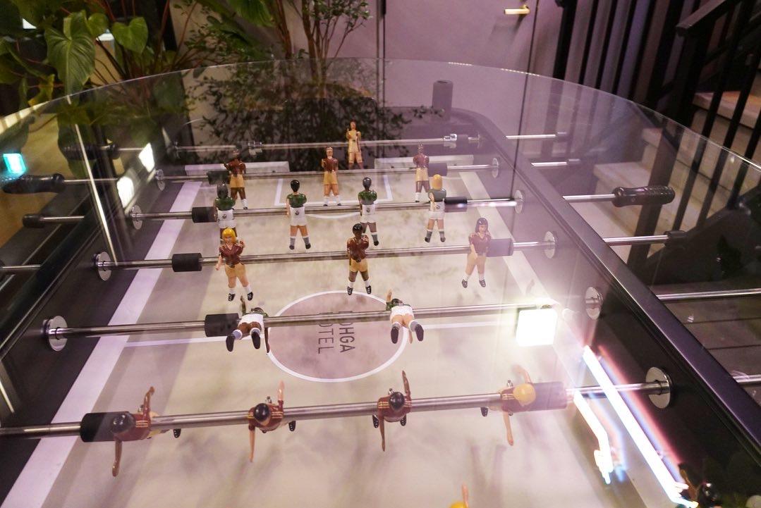 今年9月にOPENした「NOHGA HOTEL秋葉原」に宿泊してきたら1Fのレストランの釜で焼く本格ピザが美味しすぎた!?置いてあるテーブルサッカーゲームで白熱!スタイリッシュでお洒落なホテルなので女子旅におすすめ◎_4