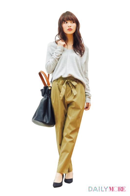 【今日のコーデ/内田理央】パンツをはきたい金曜日は美人なテーパードを選んで♪_1