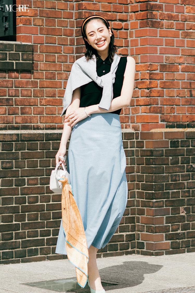 【今日のコーデ】接触冷感と吸水速乾素材のスカートをはいた土屋巴瑞季