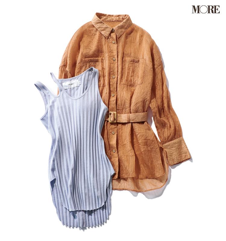 春トレンドの「透けるシャツ」を買ったなら、さて、インナーは何を着る?_4