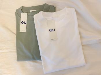 ラフで可愛いGU Tシャツ♡