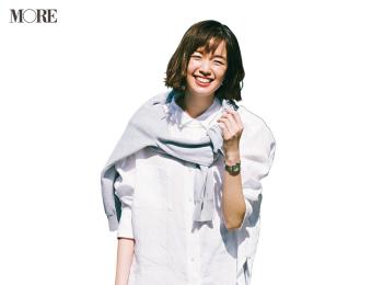 【今日のコーデ】<佐藤栞里>ロング&リーンなスカートでモノトーンコーデをあか抜けさせて